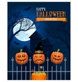 Halloween Castle Postcard vector image
