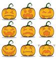 halloween design set flyer background design vector image