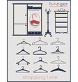 hanger shopping time vector image