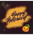 happy halloween gold sparkles background vector image