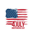 happy independence day fourth july vector image