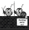 Hunting party vector image
