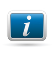 inform icon on blue with silver rectangle vector image vector image