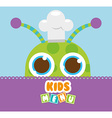 kids menu design vector image vector image