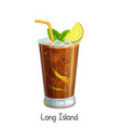 long island cocktail vector image vector image