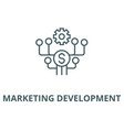 marketing development line icon linear vector image vector image