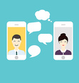 Men and Woman online chat Social Network and vector image vector image
