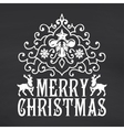 Merry Christmas lettering on chalkboard background vector image