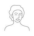 minimalism hand drawn female portrait in modern vector image