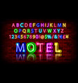 neon light alphabet vector image vector image