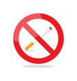 no smoking area prohibition sign vector image vector image