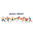 people shopping on black friday sale crowd vector image vector image