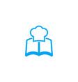 recipe book icon vector image vector image