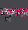 red garden berries in header design element vector image vector image