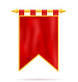 royal flag realistic template empty blank stock vector image vector image