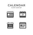 set glyph icons calendar vector image