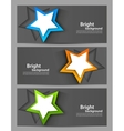 Set of banners with stars vector image vector image