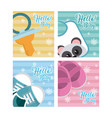 set of hello baby cards vector image vector image