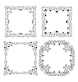 Set of vintage frames borders vector image