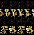 set seamless patterns with seaweeds vector image