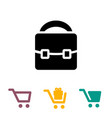 shopping bag and cart icons vector image vector image