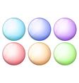 Six round icons vector image