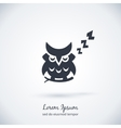 Sleeping owl logo Dream concept icon vector image vector image