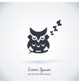 Sleeping owl logo Dream concept icon vector image