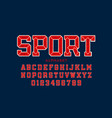 sports team embroidery style font vector image vector image