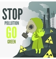 Stop environmental pollution vector image