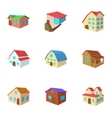 Structure icons set cartoon style vector image