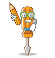 student screwdriver character cartoon style vector image