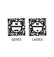 Toilet qr code sign vector image vector image