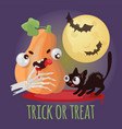 trick or treat halloween cartoon set vector image vector image