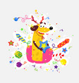 yellow dog is symbol chinese new year flat vector image vector image