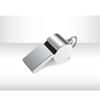 Metalic isolated whistle vector image