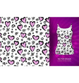 Abstract background with a pattern hearts