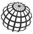 abstract sphere grid vector image