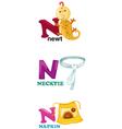 alphabet letter - N vector image vector image
