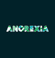 anorexia concept word art vector image vector image