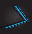 blue arrow 3d direction on gray hexagon mesh vector image vector image