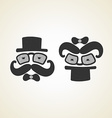 businessman and baby monochrome logo vector image
