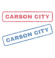 carson city textile stamps vector image vector image