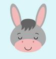 cartoon cute donkey with a farm vector image vector image