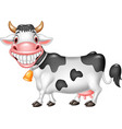 cartoon happy cow isolated on white background vector image vector image