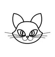 cat head character animal icon line style vector image vector image