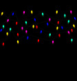 christmas christmas multicolored lights isolated vector image