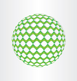 christmas green decoration ball vector image vector image