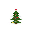 christmas tree color icon element of christmas vector image vector image