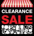 Clearance sale background vector image vector image